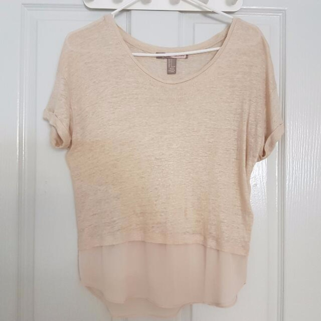 Forever 21 Beige Top Size S
