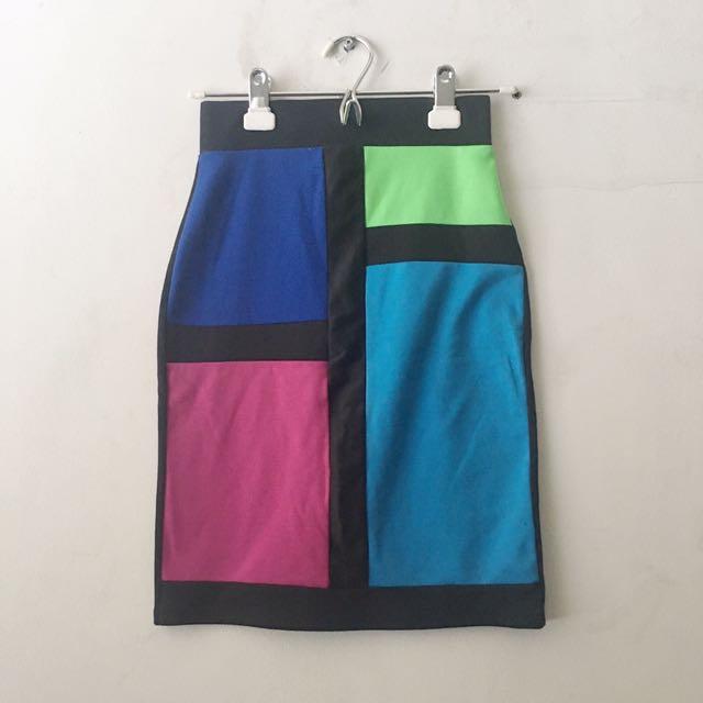 Forever 21 Geometric Skirt