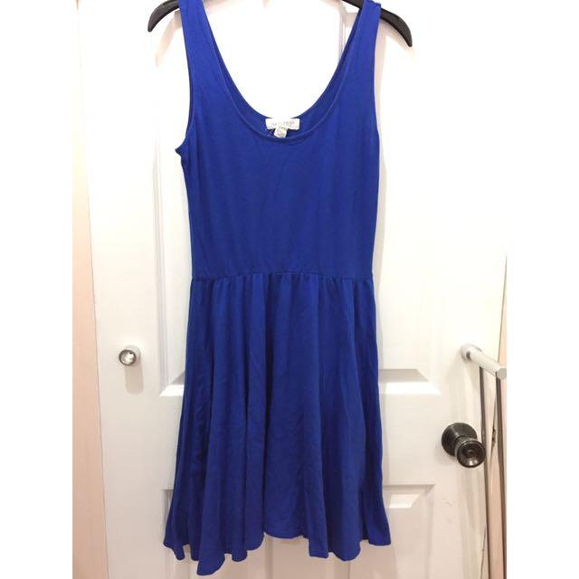 Forever 21 Plain Blue Dress