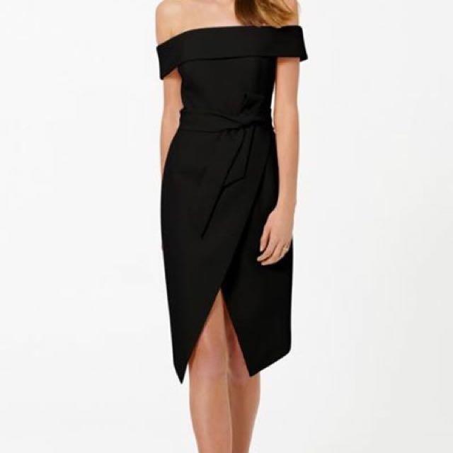 Forever New Bianca Bardot Tie Waist Dress
