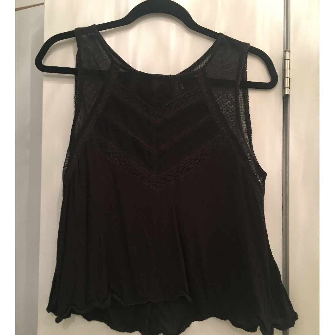 Free People - Black Summer Tank Top - Size S