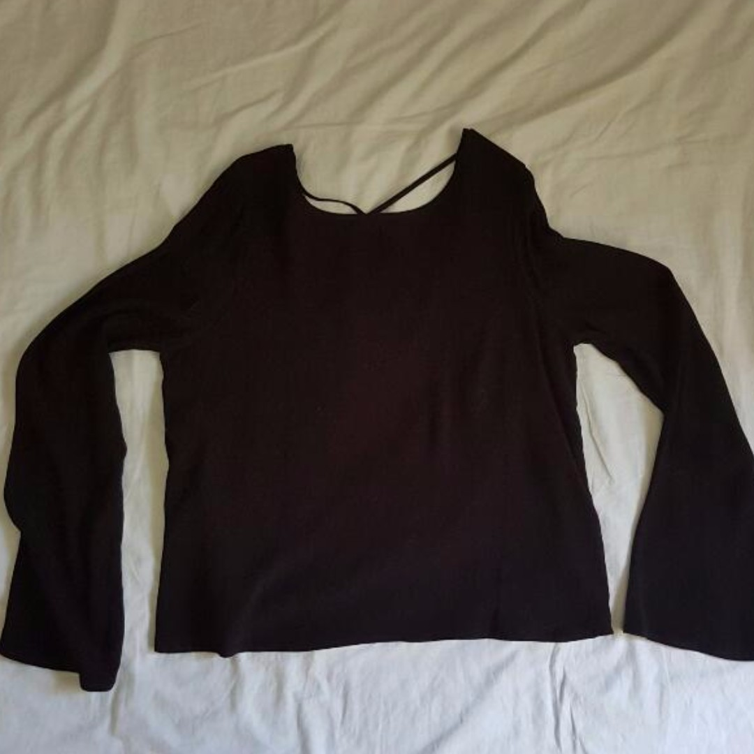 Glassons Black Blouse Size 8