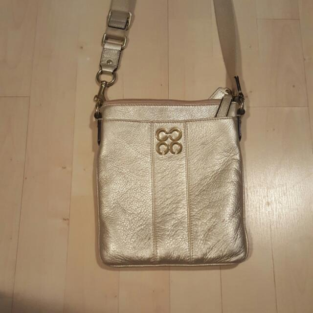 Gold Coach Side Bag