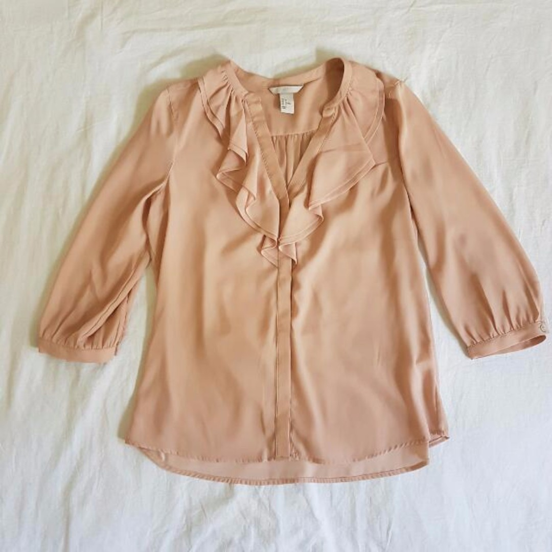 H&M Light Pink Blouse Size 8