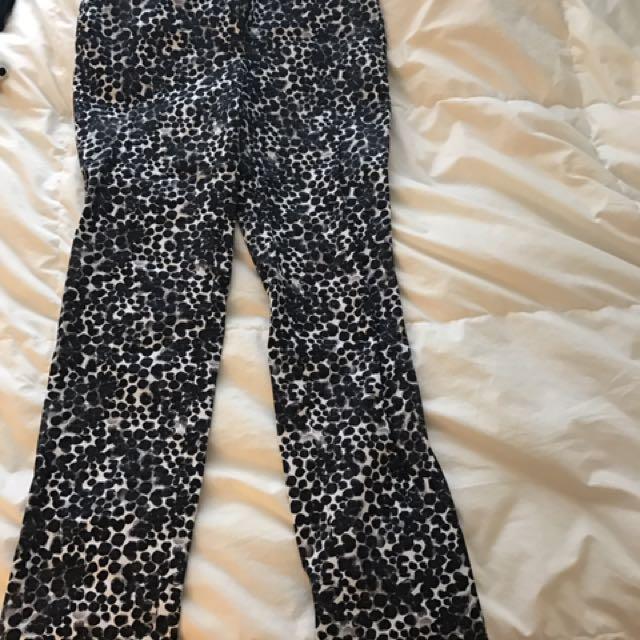 H&M Printed Dress Pants