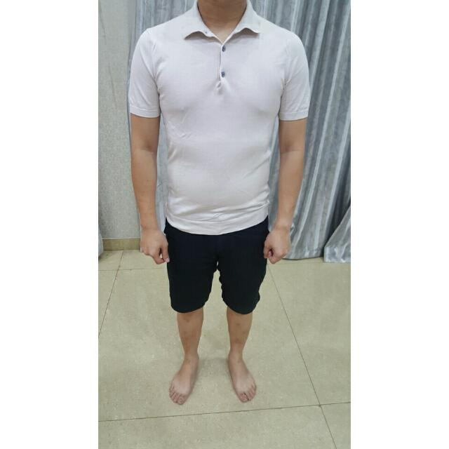 HnM Polo Knitted Broken White Shirt