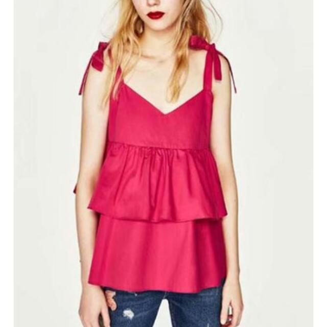 Hot Pink Ruffled Top.
