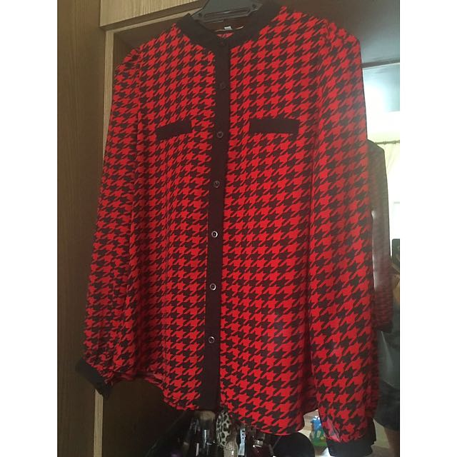 Houndstooth Blouse