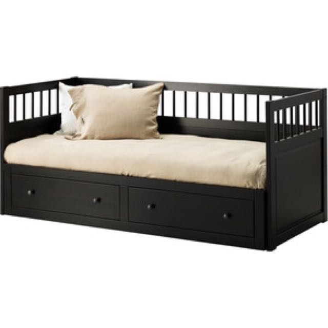 IKEA Hemnes Single Day Bed - Black