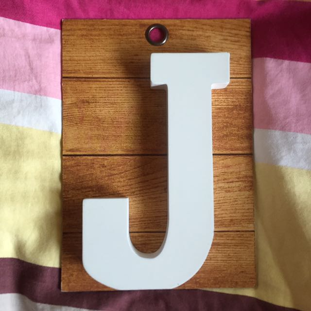 J (letter For Gallery Wall)