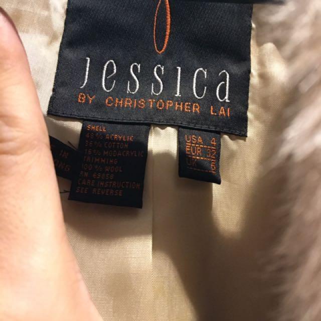 Jessica 100%小羊毛外套