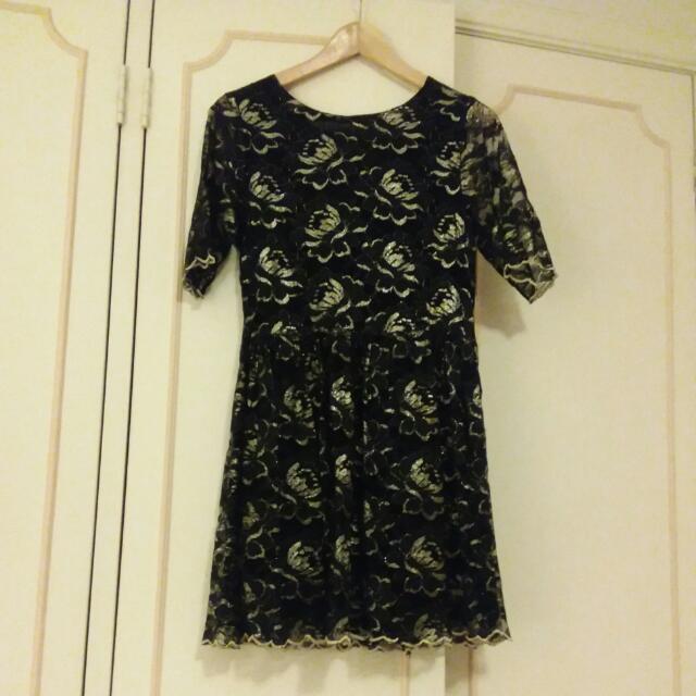 Jorge Metallic Dress