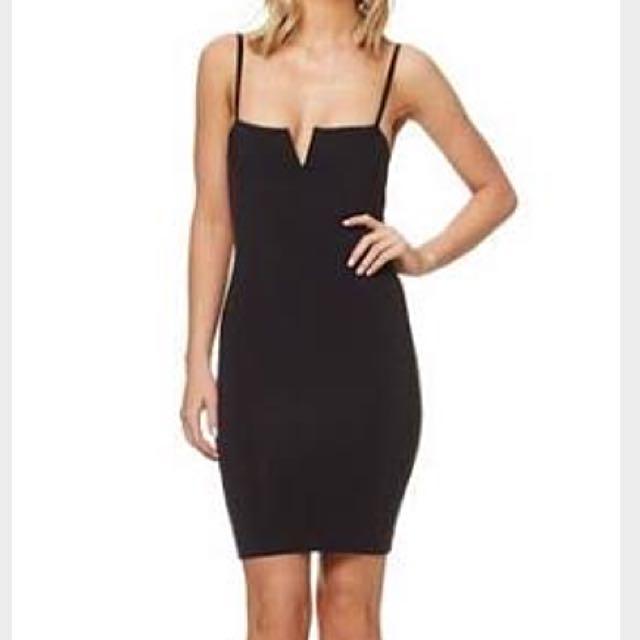 Kookai Black Midi Dress