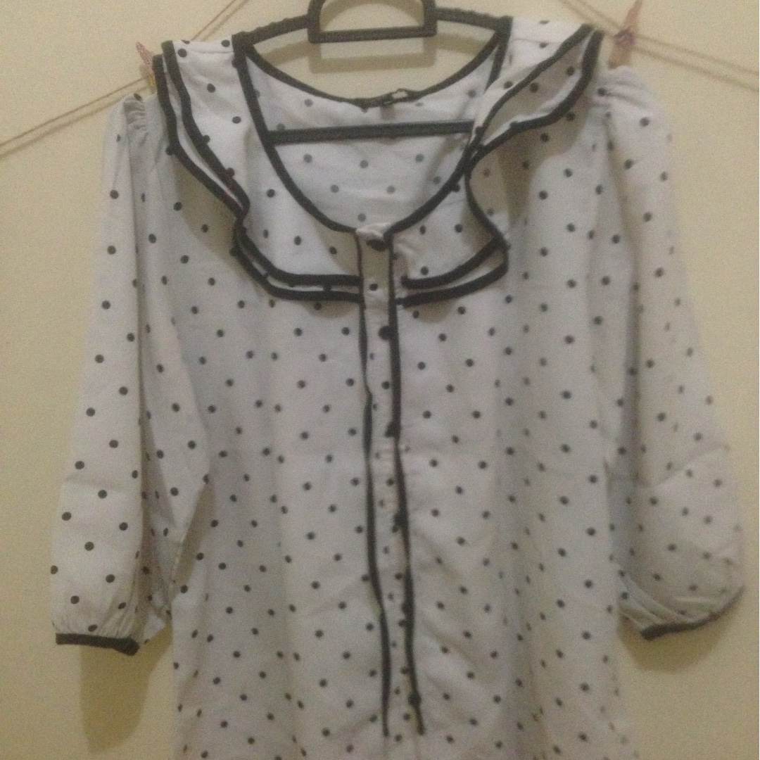 Korean Polkadot Shirt