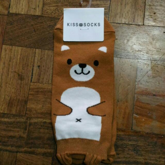 Korean Ankle Socks (Cute Bear)