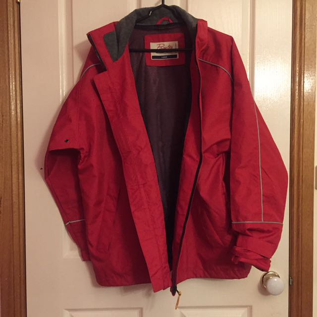 Large Red Outer Active Wear Jacket
