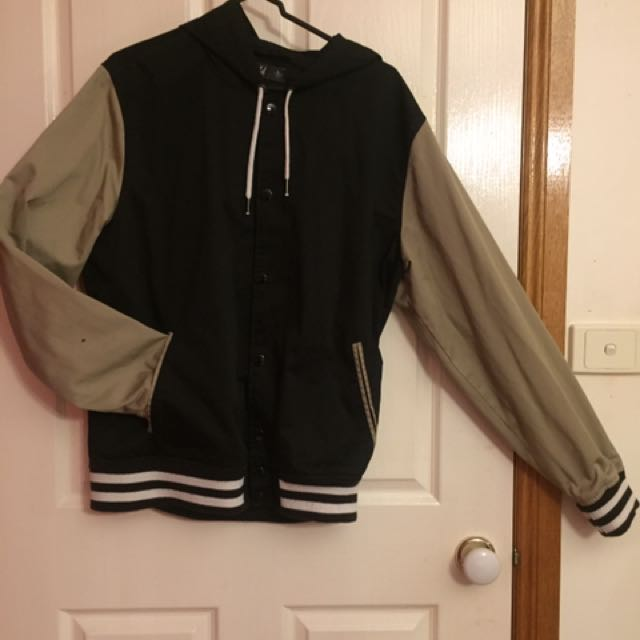 Large Varsity Jacket With Hood