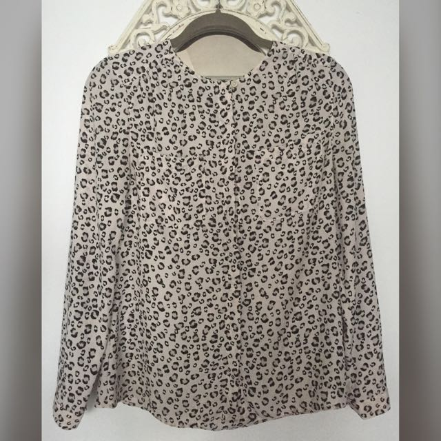 Light Pink Patterned Blouse From Loft