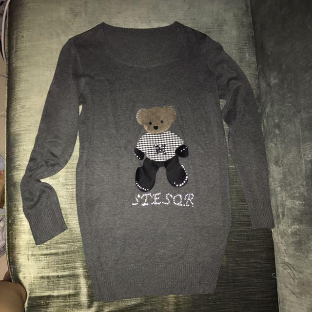 Long Tedy Bear Sweater