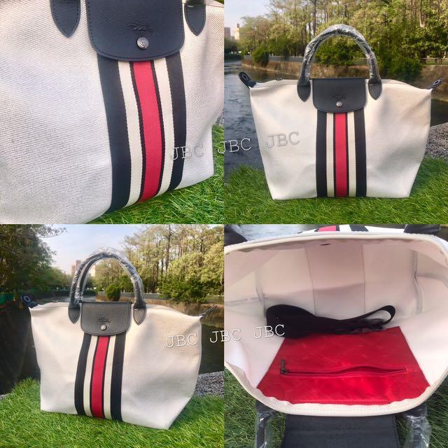 Longchamp 白色刷金特別款
