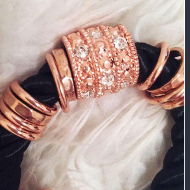 MIMCO black And Gold Bracelet