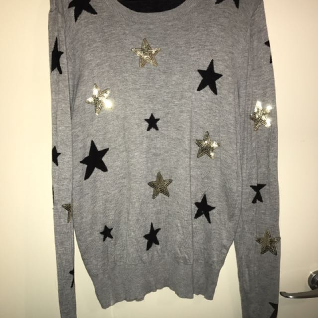 Miss Shop Ladies Star Jumper Size 16