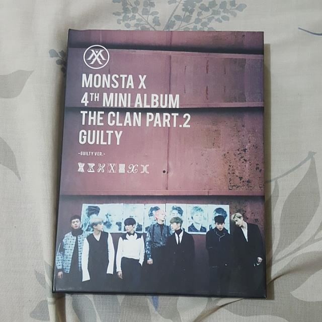 MONSTA X 4TH MINI ALBUM THE CLAN PART. 2 GUILTY GUILTY VER