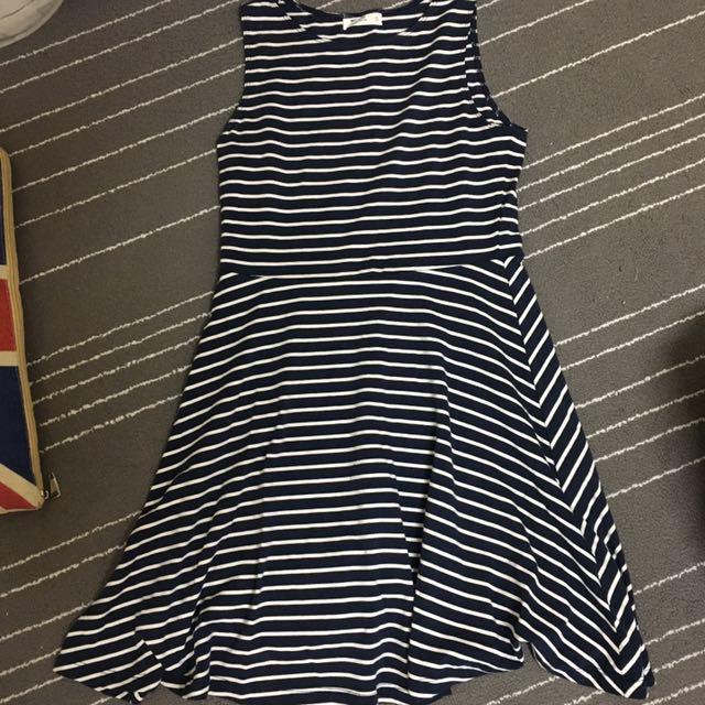近全新NET條紋洋裝