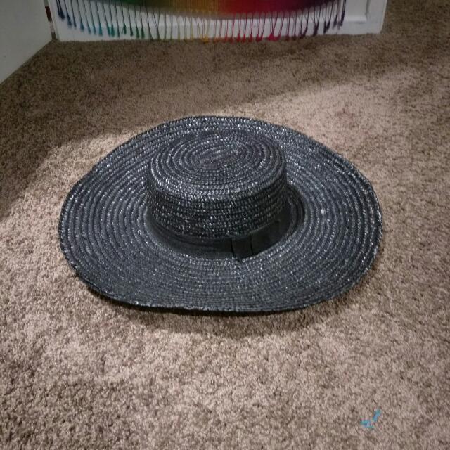 New Kookai Black Straw Hat