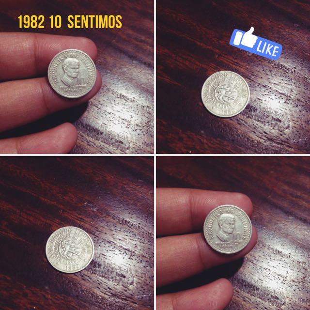 Old Coin 10 Sentimos (1982)