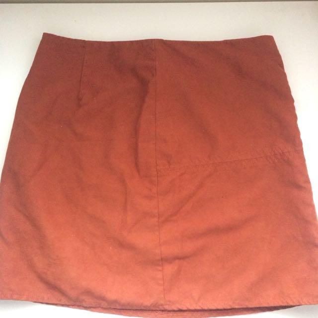 Orange Suede Skirt