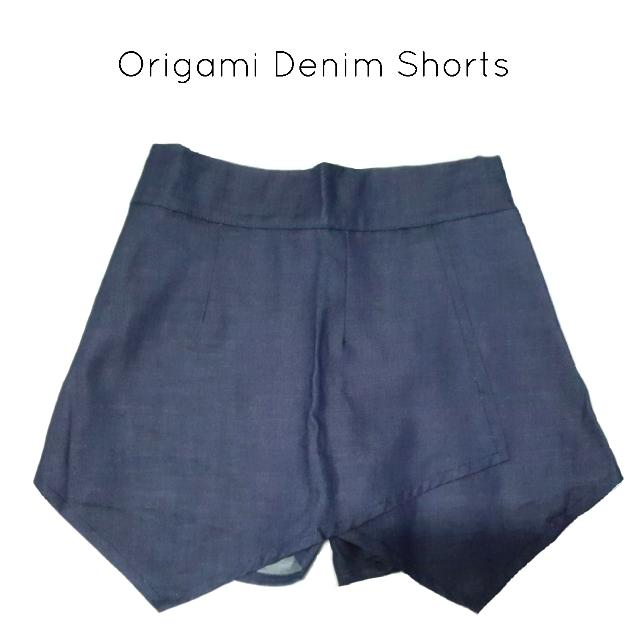Origami Denim Shorts