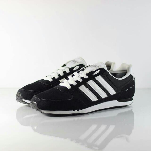 adidas neo city racer black white