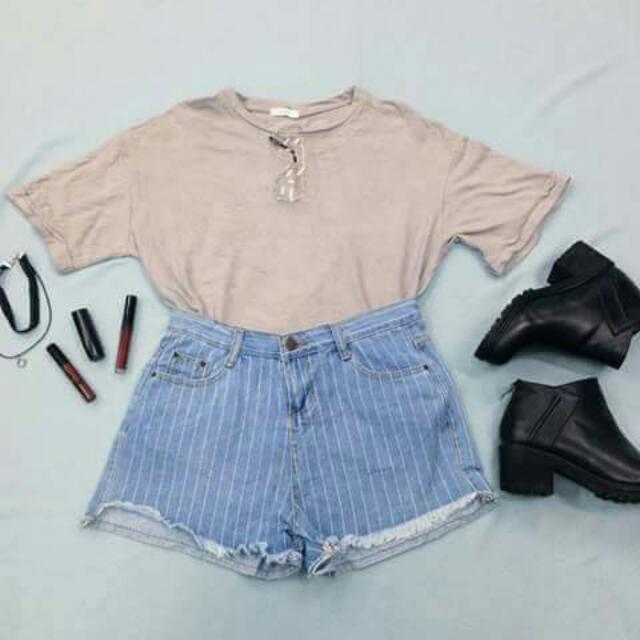 Oversized Tee + Hw shorts Set