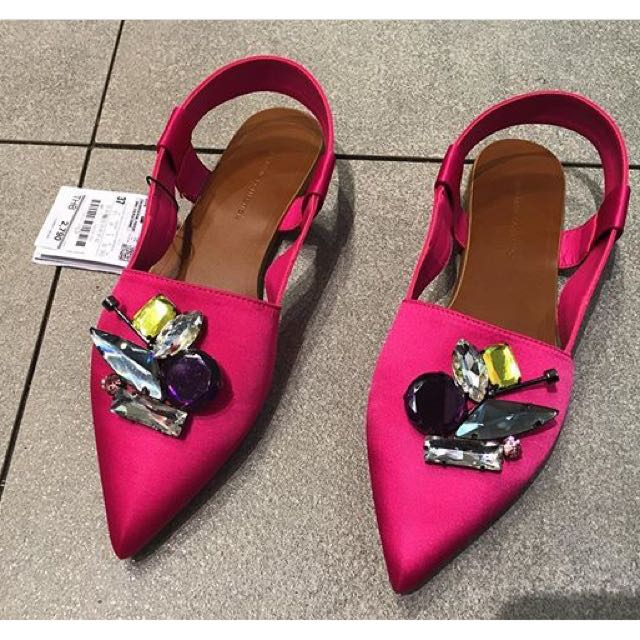 Pink Zara Studded Sandals