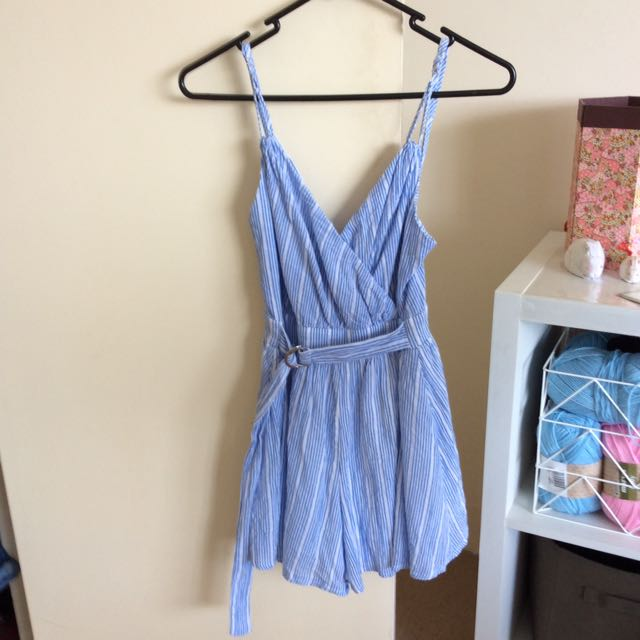Pinstriped Playsuit