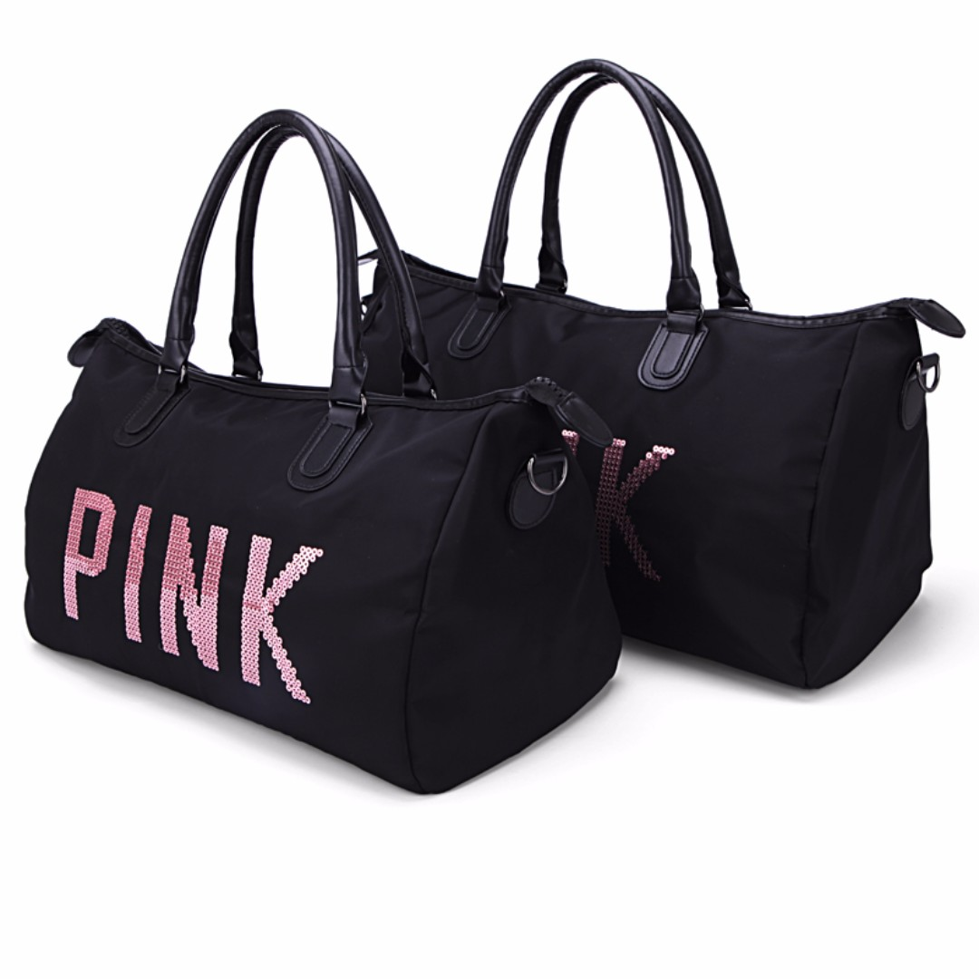 Po Fr 33 Vs Victoria S Secret Pink Sequin On Black Duffel Gym Travel Bag 2 Sizes Po111500191 Free Post Bulletin Board Preorders Carou