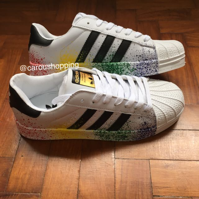 lowest price a26cf 2e465 PO] Rainbow/Black Adidas Superstars, Bulletin Board ...