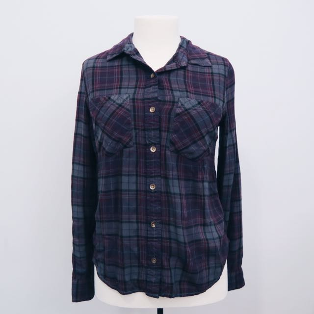 Purple Plaid Flannel || forever 21