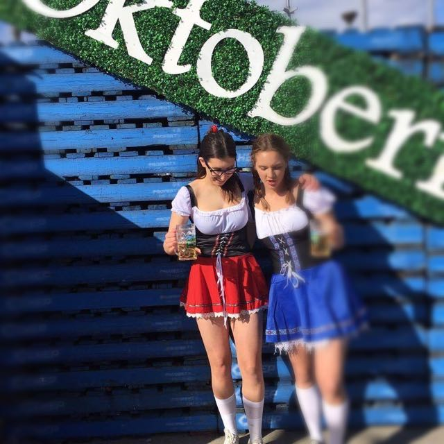 Red Octoberfest Beer Maid Costume