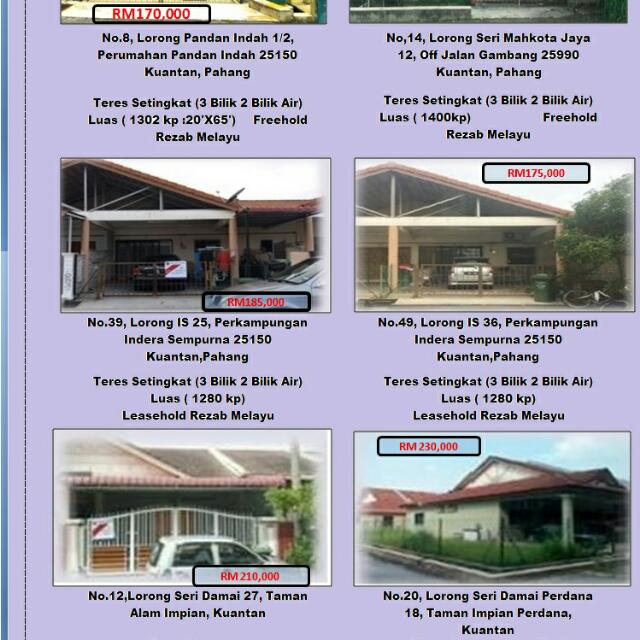 Rumah Subsale Kuantan Property For Sale On Carousell