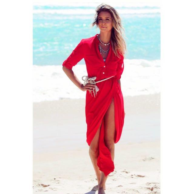 SABO SKIRT Red Dee maxi Dress