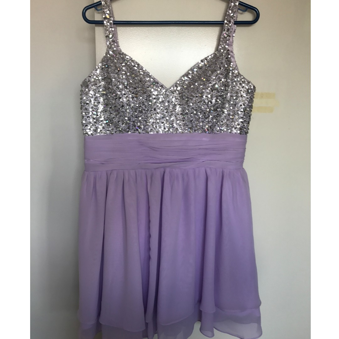 Silver / Lavendar Formal Dress