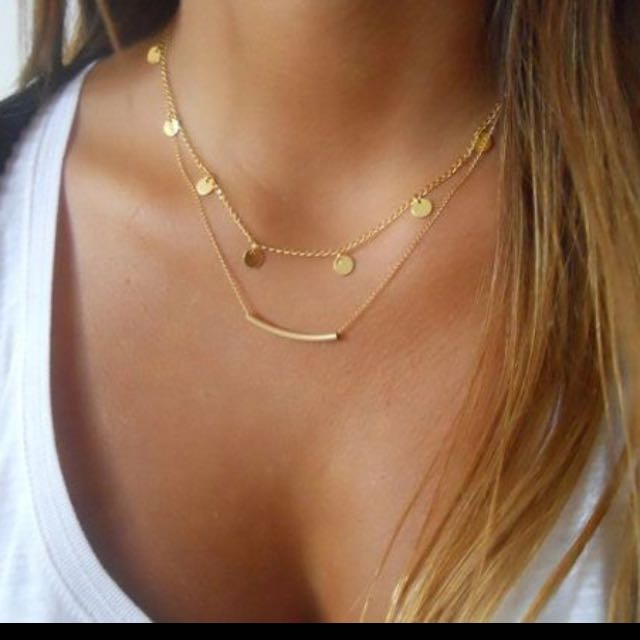 #thecafe Gold Layered Necklace