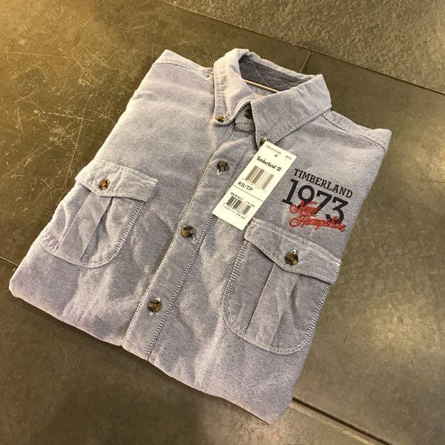 Timberland 灰色工裝襯衫 工作襯衫 XS