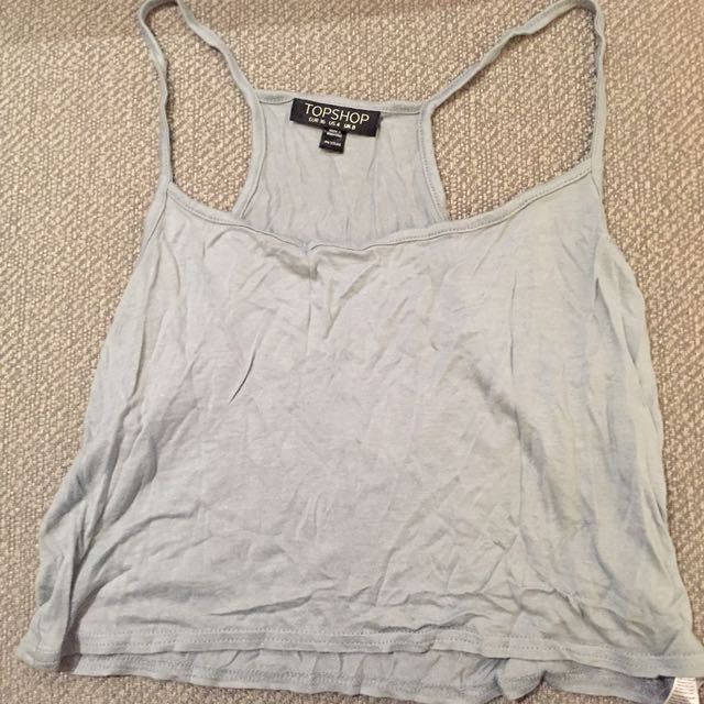 Topshop Cropped Tank Top