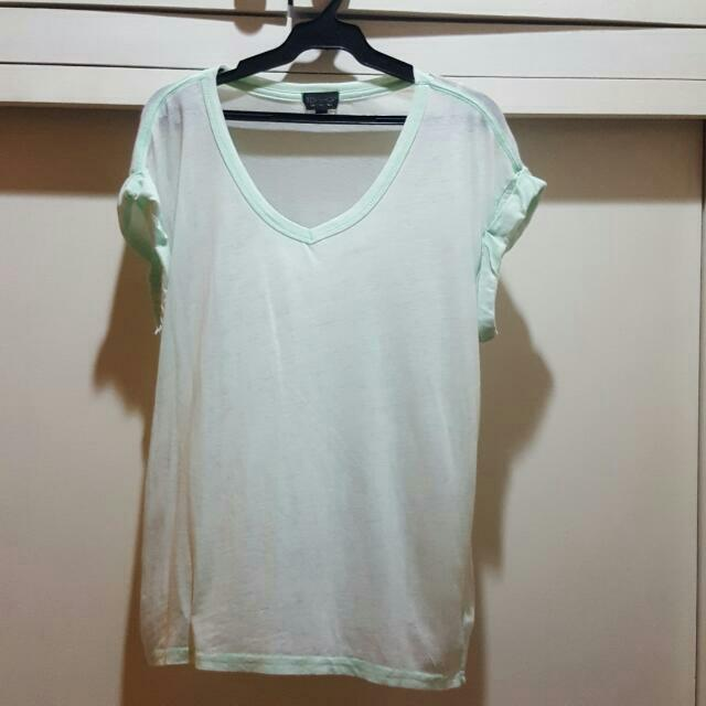 Topshop Mint Green Top
