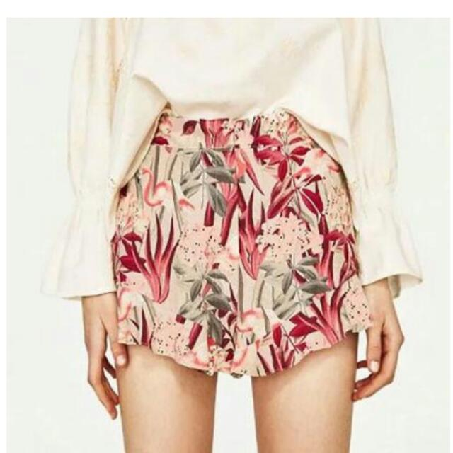 Tropical Ruffled Shorts