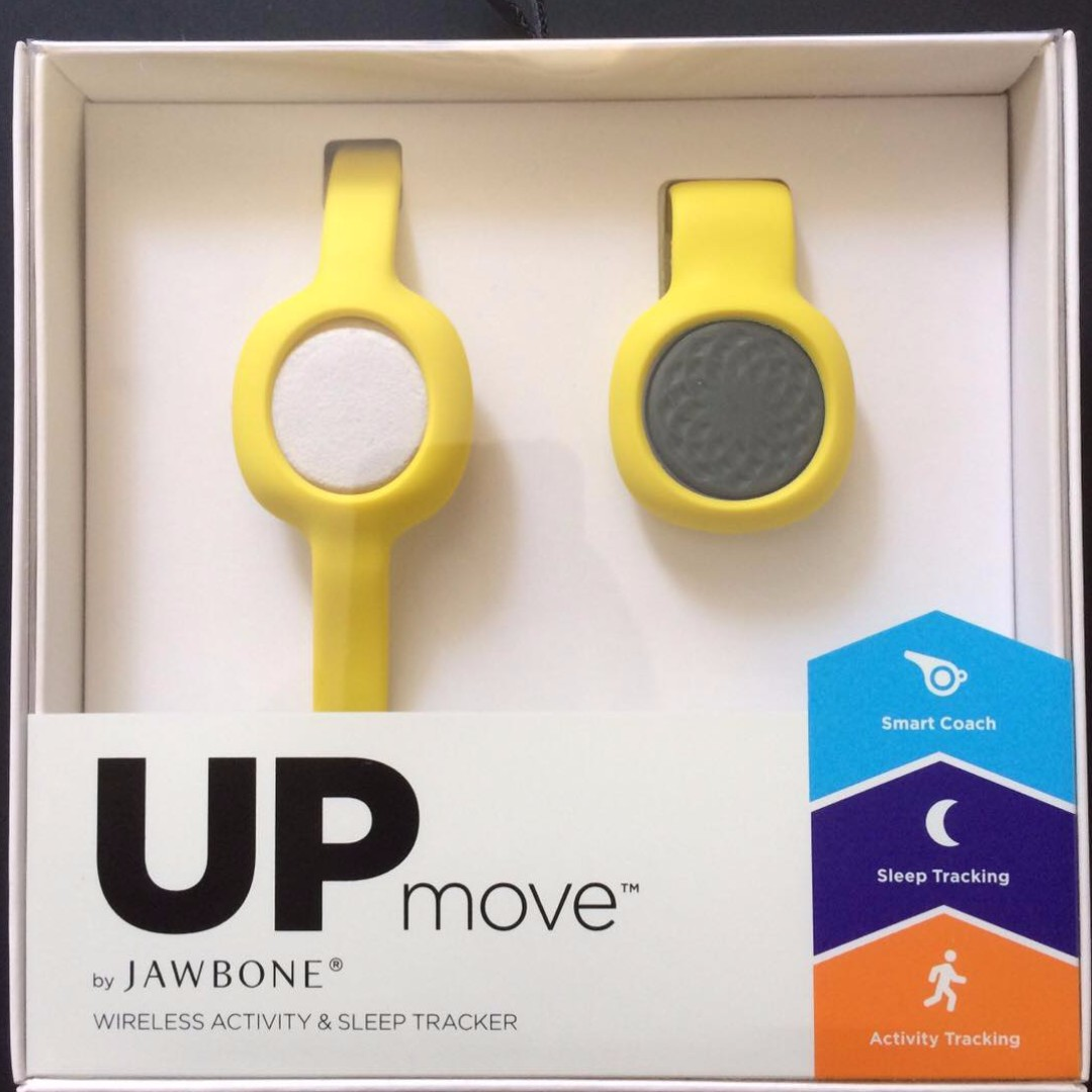 MARK DOWN PRICE! :) UP Move by Jawbone (Slate Rose Pod + Yellow Clip)