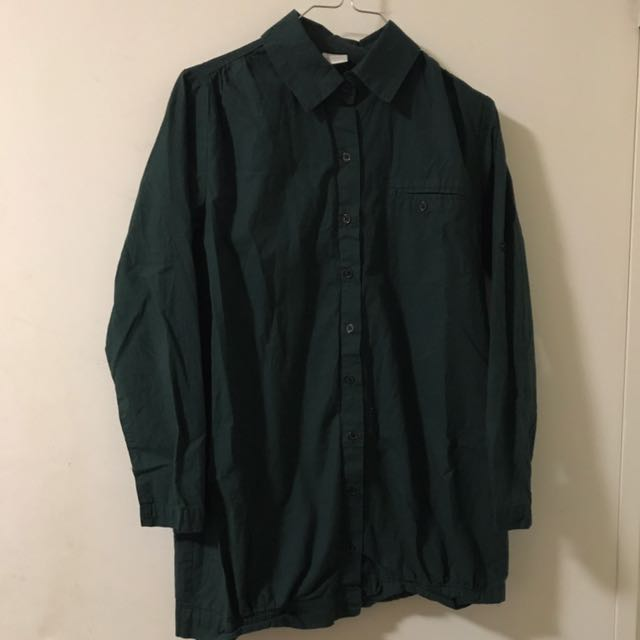 Urban Outfitters Army Green Button Shirt